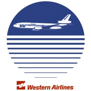 Western Airlines Sunset