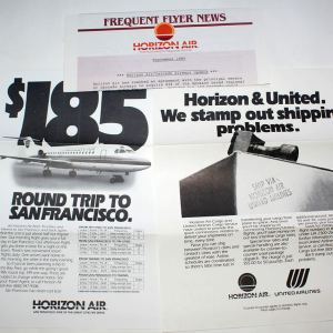 Horizon Air Frequent Flyer News Letter Contents 1985