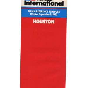 Texas International Timetable, Houston 1982