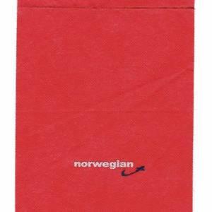 Norwegian Airlines Headrest Branding Cloth