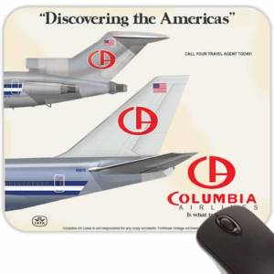 Retro Airline Jet-Age Mouse Pads – Colombia Airlines (Fictional)