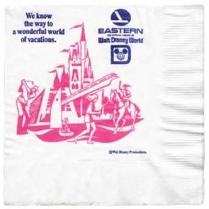 Eastern Airlines Walt Disney World Paper Napkin