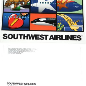"""Southwest Airlines """"California"""" Postcard"""
