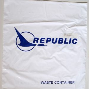Republic Airlines Waste Container Bag