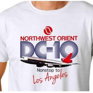NWO DC-10 to Los Angeles White Tee (L) (DEFECT)