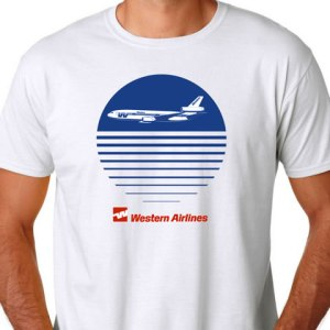 [DEFECT PRINT] Western Airlines Sunset Tee (LARGE)