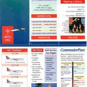 Rare Carnival Air Lines Brochure