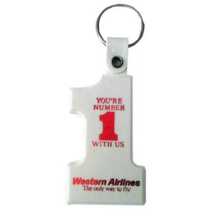 Western Airlines Number One Keychain