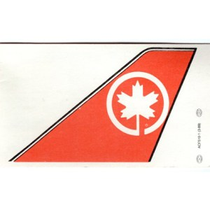 Air Canada Luggage Tag Insert Card