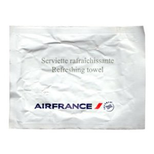 Air France Wet Napkin