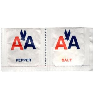 American Airlines Salt & Pepper Packet