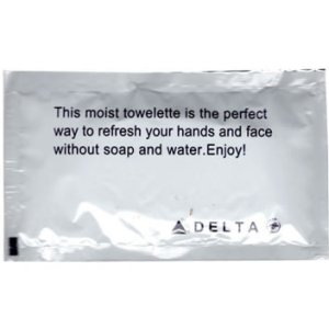 Delta Airlines Wet Napkin
