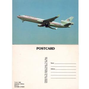 American Airlines McDonnell Douglas MD-11 Postcard