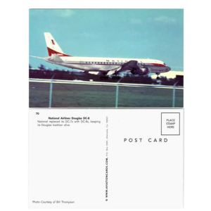 National Airlines Douglas DC-8 Postcard