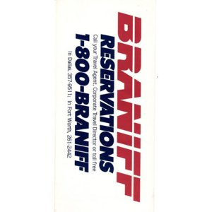 Braniff II Boarding Ticket Envelope