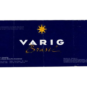 VARIG Brasil Airlines Ticket 1990s