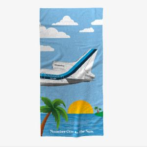 Number One to the Sun Beach Towel