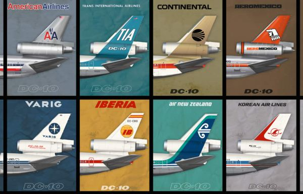DC-10 Empennage Airliner Poster
