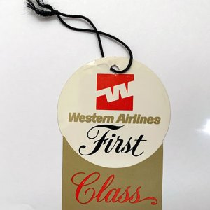 Western Airlines First Class Luggage Tag
