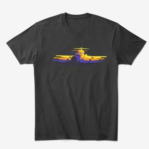 Classic Jet-Age Silhouette Airliner Tee