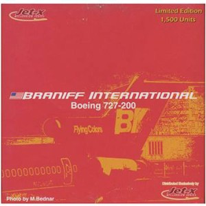 Braniff International B727-200 Flying-Colors 1:400 Scale Model (RED)