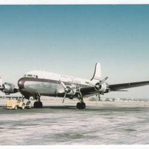 American Flyers Airline AFA DC-4 Postcard