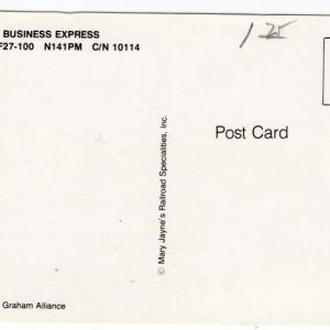 Business Express Fokker F-27 Postcard