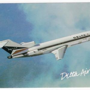 Delta Air Lines Douglas 727-200 Postcard