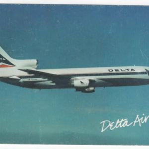 Delta Air Lines Lockheed L-1011 Postcard