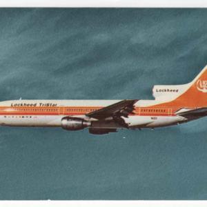 Lockheed Tristar L-1011 Widebody Airliner Postcard