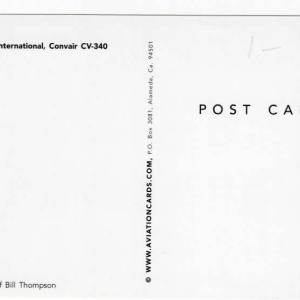 Mackey International Airlines Convair CV-340 Postcard