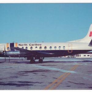 North Cariboo Air Viscount 806 Postcard