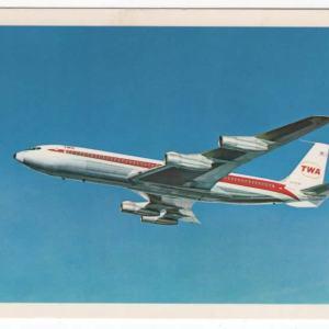 TWA Airlines StarStream Boeing 707 Postcard (B)