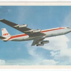 TWA Airlines StarStream Boeing 707 Postcard (A)
