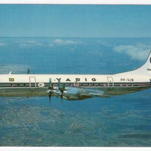 VARIG Lockheed L-188 Electra Postcard