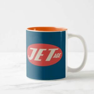 Jet Age Retro Logo Choose-Color Mug
