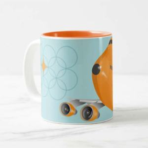 Groovy Retro Orange Jumbo, Mug