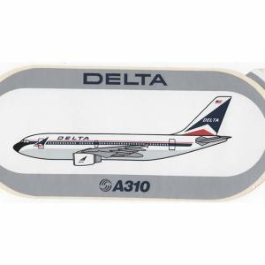 Delta Air Lines Airbus A310 Decal Sticker