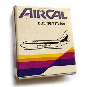 Schabak Air Cal Boeing 737 1:600 Scale Model