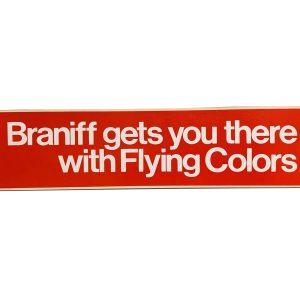 Braniff International Large 12″ inch Vinyl Sticker (RED)