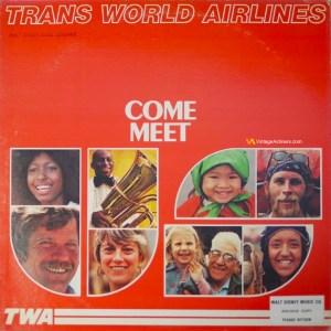 TWA Trans World Airlines – Come Meet U.S. Vinyl Soundtrack Record