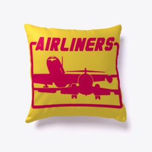 Airliners Silhouette Pillow