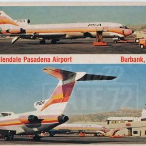 Burbank Airport PSA Boeing 727 Postcard