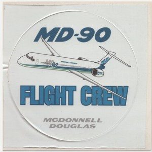 Authentic MD-90 Jet Airliner Decal Sticker