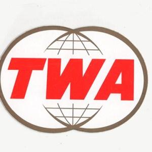 Authentic TWA Twin-Globe Decal Sticker