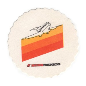 Aeromexico Cocktail Drink, Paper Coaster, Very Rare