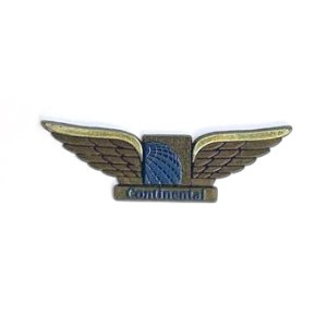 Continental Airlines Jr Pilot Wings DARK – Sticky-Back