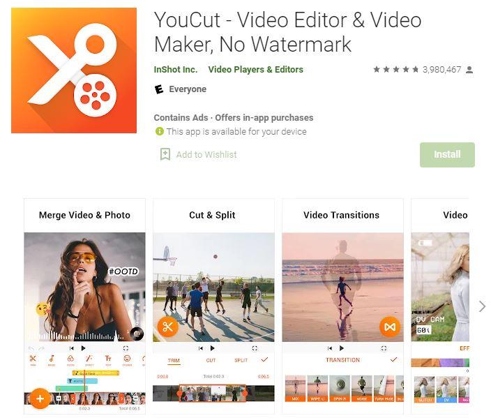 YouCut – Editor Video, Aplikasi Edit Video