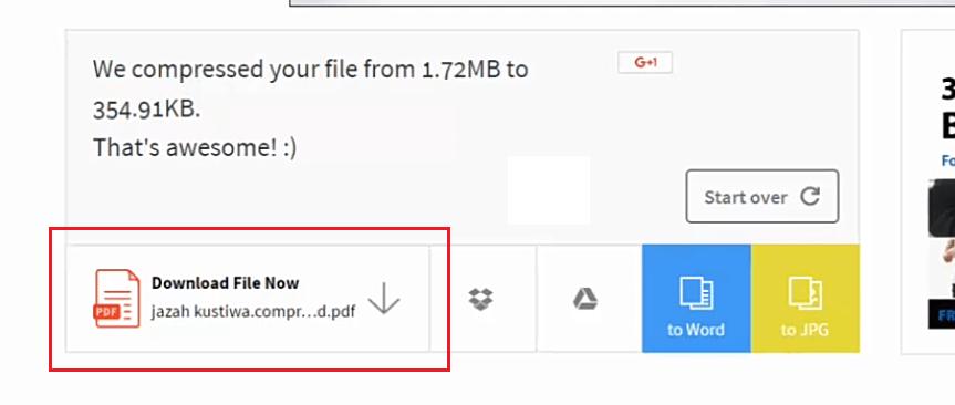 download file hasil kompres