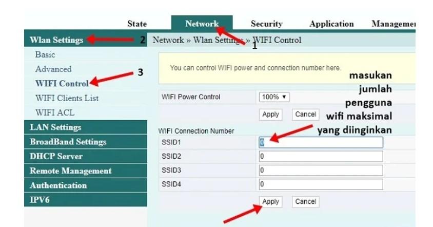 membatasi pengguna wifi indihome